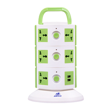 Universal Power Tower Conference Table Extension Socket Surge Protection with USB and Power Socket