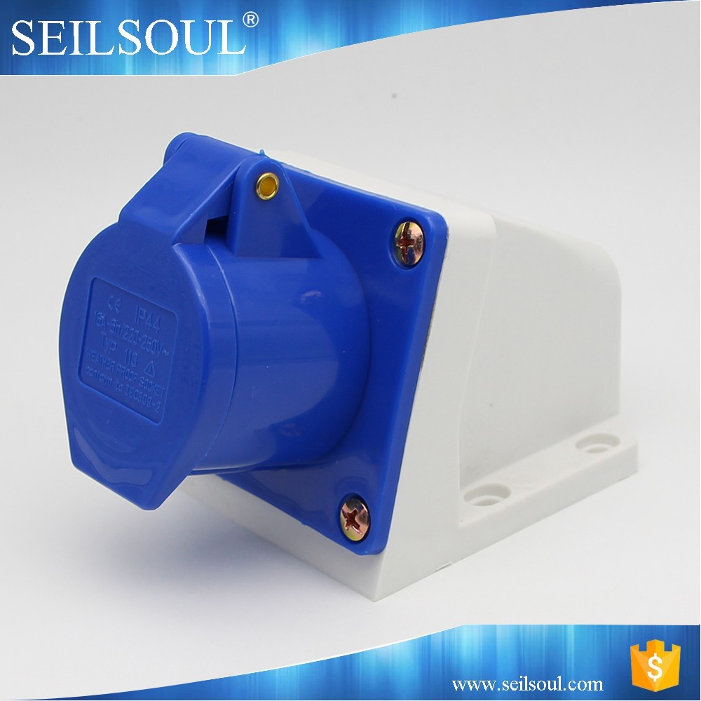 Industrial plug socket IP44 16A outlet type Male and female industrial socket