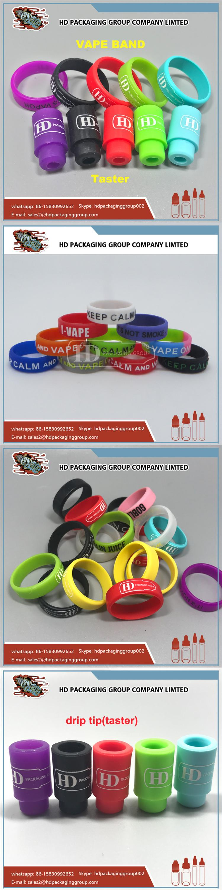 custom colored and logo printed smok silicon vapr band rings