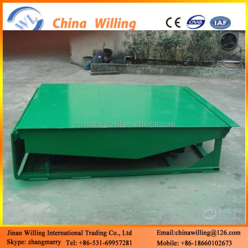 6ton Good Qualitywarehouse ramp yard trailer used/ china used trailer loading ramp