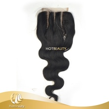 7A Fast Shipping Lace Closure 4*4 Middle Free 3 Way Part Body Wave
