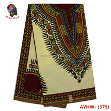 Gzmadison 2016 Wholesale 100% Print Cotton African Angelina Embroidered Hollandais Wax Print Fabric AYHW-375