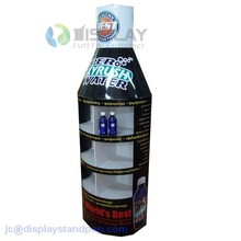 supermarket cutomized soft water bottle shape cardboard display standee for bottle product