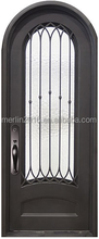 Merlin wrought iron exterior door series, with double hollow glass, fly screen, window operatable M-423