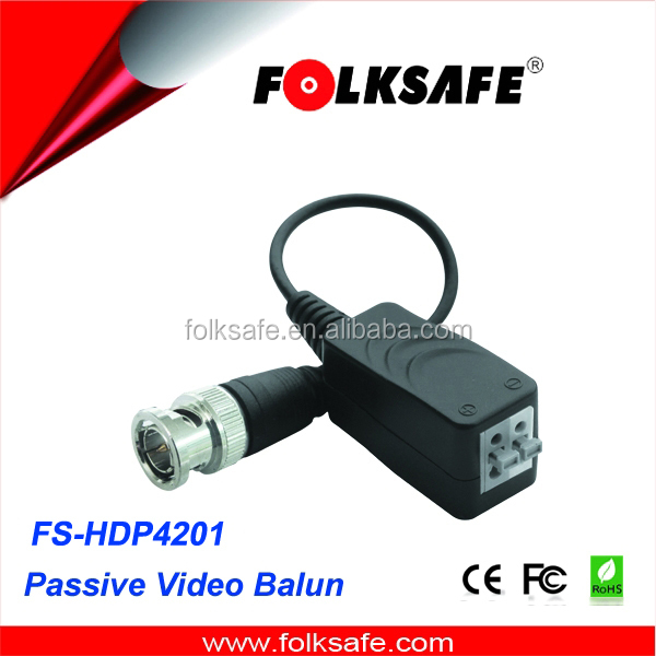 CCTV Camera AHD/CVI/TVI HD analog twisted passive video balun pair transmitter receiver