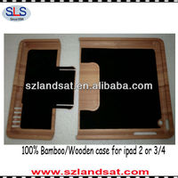 Hot factory direct sales 100% real natural bamboo case covers for ipad 3 IBC09