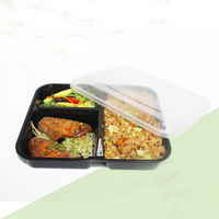 Good quality small plastic container frozen take away food box packaging