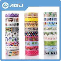 Hot style Japanese printed decorative colorful paper tape for gift packing