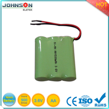 cordless phone battery 2200mah 3.6v nimh aa battery pack rechargeable