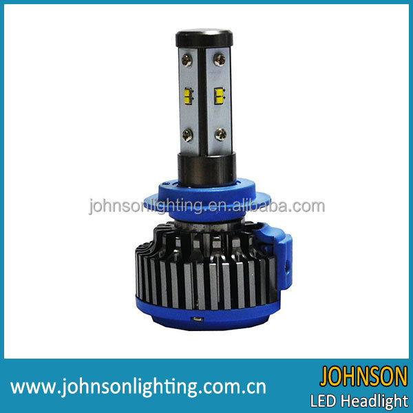 JOHNSON 2017 New Arrival led headlight bulbs 360 angle beam h4, h7, h11, h13, 9004, 9005, 9007 4 sides kit, PHILIP Chip