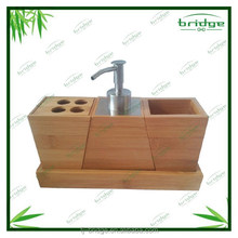 2015 New Style Modern design 4 pcs bamboobathrom accessory