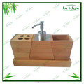 New Style Modern design 4 pcs bamboobathrom accessory