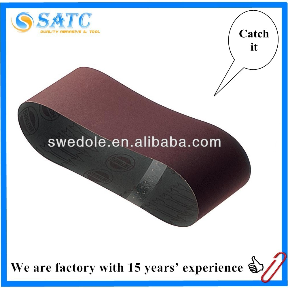 Coated abrasive sanding belt for nonferrous metal or sander