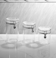 3 pcs kithen storage set BPA free passed food safe round acrylic canister /sealed pot/airtight container