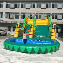 High quality commercial grade coconut tree commercial inflatable water slide for kids , inflatable waterslide factory