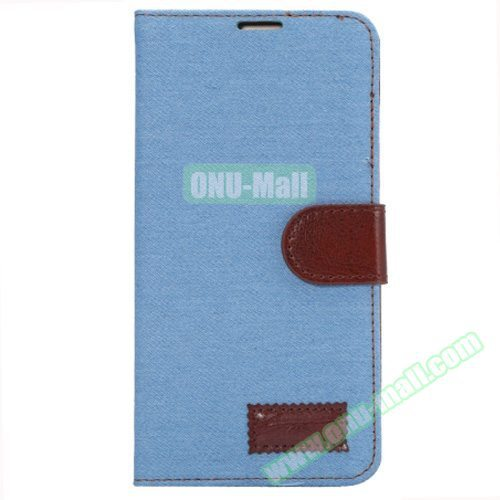 Denim texture Magnetic Flip Wallet Leather Case for Huawei Ascend Mate 7 Cover Case