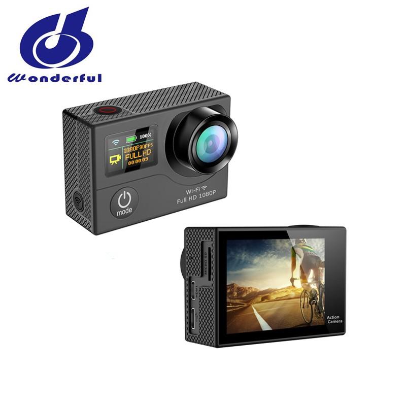 Ultra-mince Double écran HD 4 K Vidéo 170 degrés Grand Angle Caméra De Sport avec WiFi - ANKUX Tech Co., Ltd