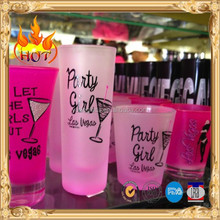Pink Lady Frosted Shot Glasses