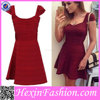 Wholesale Price Good Quality Red New Fashion Ladies Dress