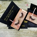 Wholesale OEM Factory Price Own Brand Private Label 100% 3D Mink Fur Strip Eyelash With Glitter Custom Eyelash Packaging Box