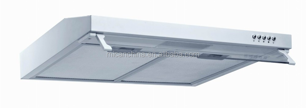 New design slim range hood with glass cover ultra-thin kitchen range hood H601-9