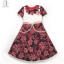 885-2-Red Yiwu HaolaiyuanGoodSell well new type baby girls fancy dresses, african wholesale clothing
