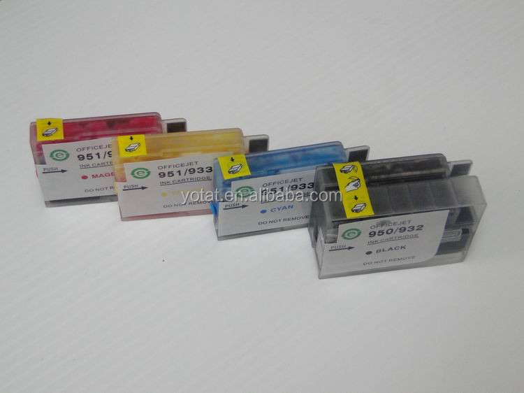For HP Officejet 6100/ 6600/ 6700 printer cartridge for HP refill ink cartridge 932 933
