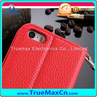 Wholesale Parts Wallet Flip Leather Case Fit For iPhone 5S,Lichi Pattern
