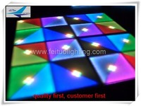 Free shipping 720pcs*10mm RGB light up dance stages led dance floor