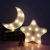 DELICORE Decorative LED Crescent Moon&Star Marquee Letters Sign LED Lights - Nursery Night Lamp GIFT for Children