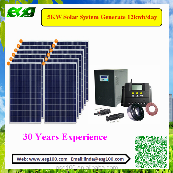 solar power system home 10kw of Solar Panel <strong>Kit</strong> with Pure Sine Wave Inverter built-in MPPT Controller