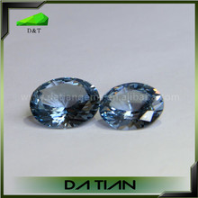 AAAAA grade oval cut blue cubic zirconia gemstone cz stones wholesale