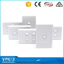 YOUU 2017 New Technology Hotel Home SAA Round Button One Gang One Way Wall Switch