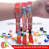 Cheap festival christmas decoration custom woven butterfly wristband