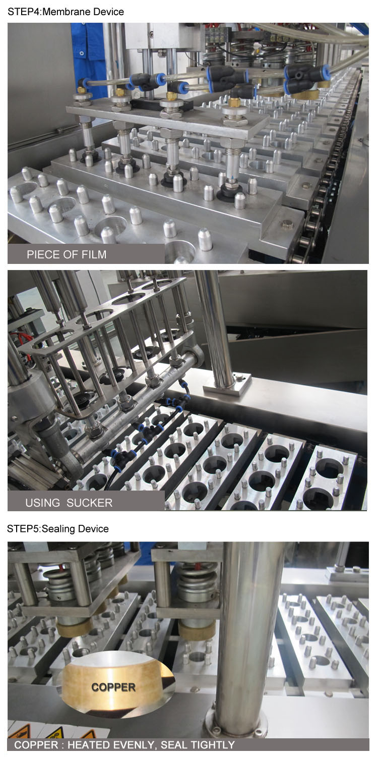 Linear coffee capsule packing machine/coffee capsule filler and sealer machine