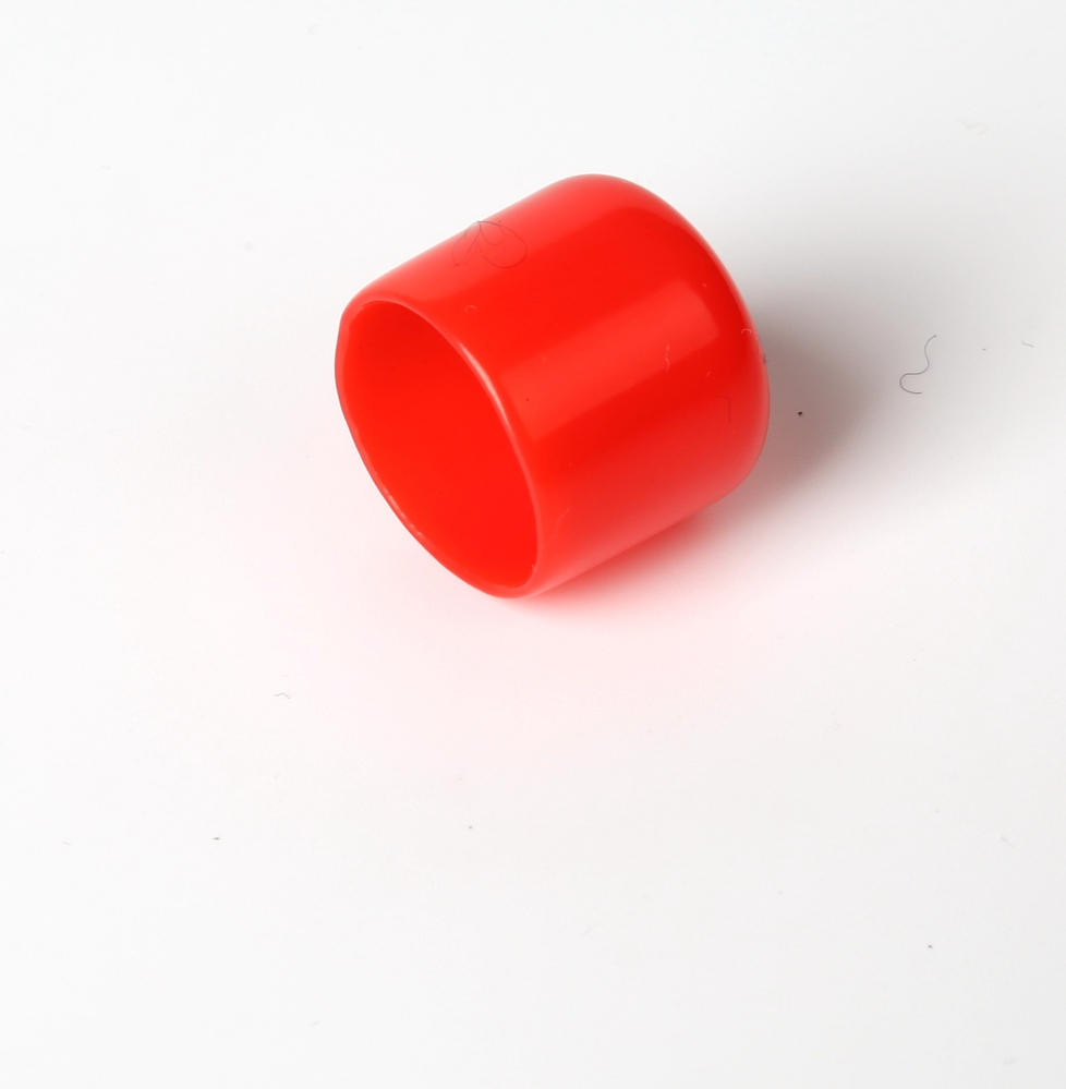 Inch colorful pvc soft threaded end caps with rosh