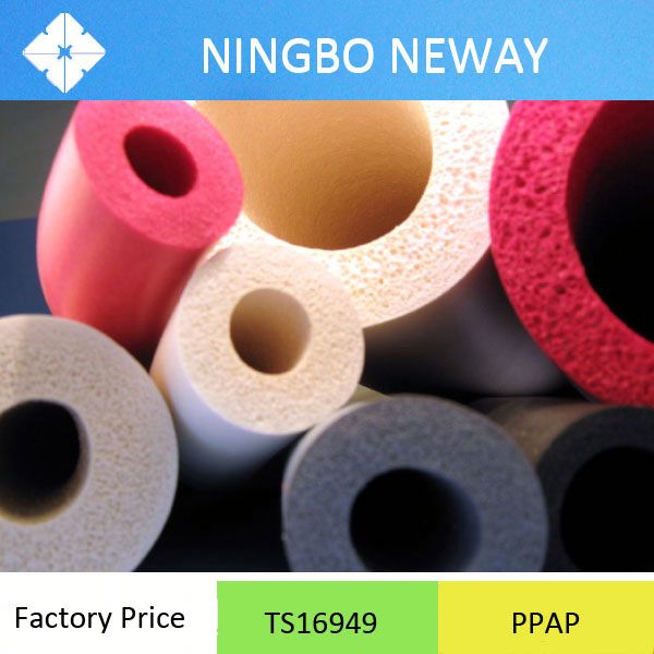 Ts16949 Food grade foam rubber tubing factory
