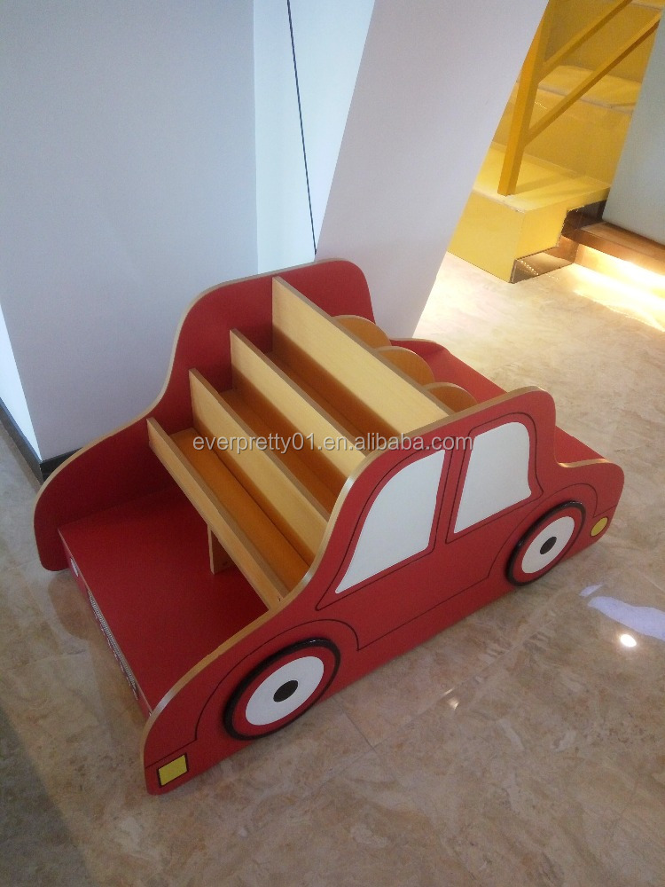 Kid Car Shape MDF Bookshelf