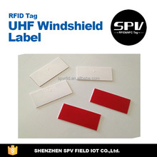 High Performance UCODE ISO18000-6C 860-960MHz UHF Windshield Sticker/Label for Parking/Car/Vehicle