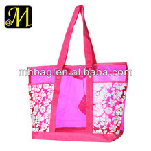 Waterproof Large Beach Tote Bag with Outside Pockets