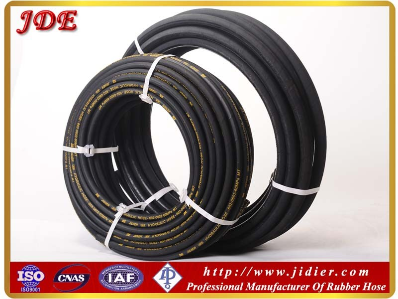 "3/4"" ID hydraulic hose 4SH four layers spiral rubber hose for convey hydraulic liquid"