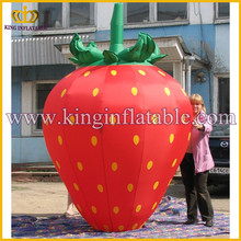 Good looking giant cheap inflatable strawberry fruit shaped ,promotional inflatable fruit