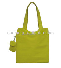 canvas tote bag with outside pockets ,canvas foldable shopping bags