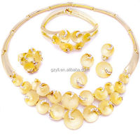 18k gold plated fashion necklace sets/ jodha akbar jewelry set best costume