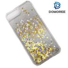 Bling Bling star shape glitter quicksand mobile phone case
