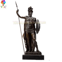 B-10 Shield warrior sculpture bronze wholesale statues art deco gift design bust