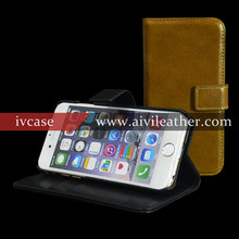 Genuine Leather Universal Flip Phone Case Smart Wallet with Detachable Inner Case For Iphone 6s