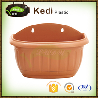 Save 10% free sample premium ball shape ecofriendly plastic wall hanging semicircular flower pots planters