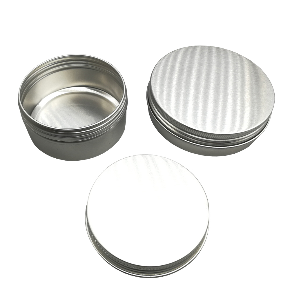 Custom 10ml 20ml 25ml 30ml 35ml 40ml 60ml 80ml 85ml 100ml 200ml 350ml Round Aluminum Cosmetic Cream Jar For Cosmetics