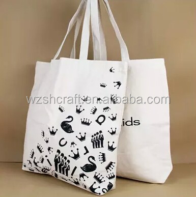 Custom printed promotional cotton canvas tote shopper bag